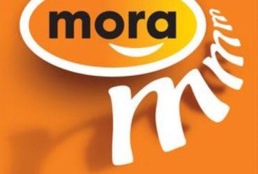 Het logo van Mora